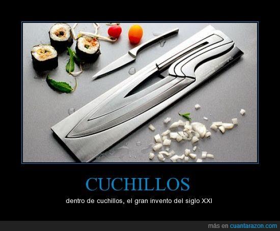 ahorrar espacio,cuchillos,invento