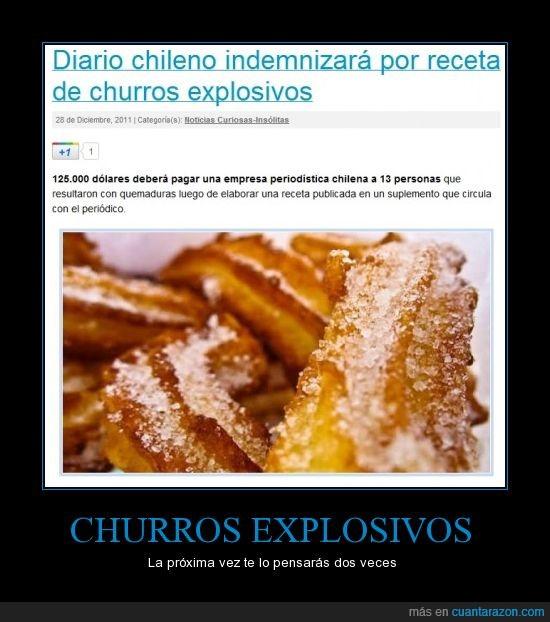 churros,explosivos,receta