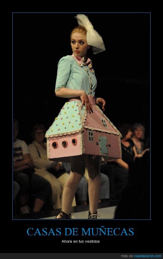 casa,desfile,muñecas,vestidos