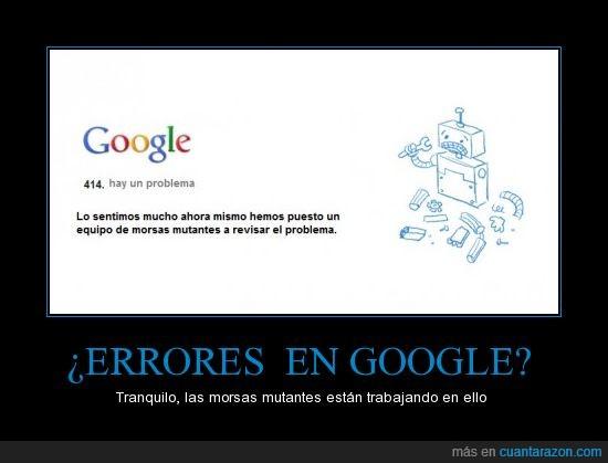 Albert,error,etiqueta to chunga,Google,Marc,morsa mutante,Zoel