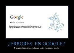 Enlace a ¿ERRORES  en GOOGLE?
