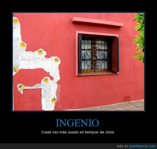 casa,crisis,ingenio,pacman,pintura
