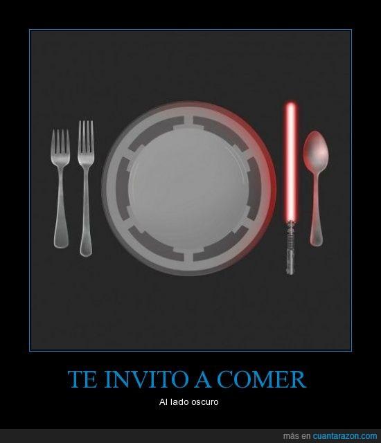 comida,cubiertos,cuchillos,plato,star wars