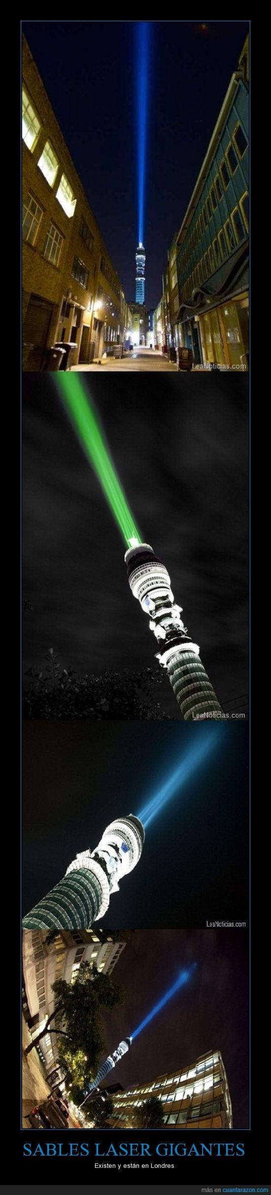 edificios,gigante,laser,londres,luz,sable