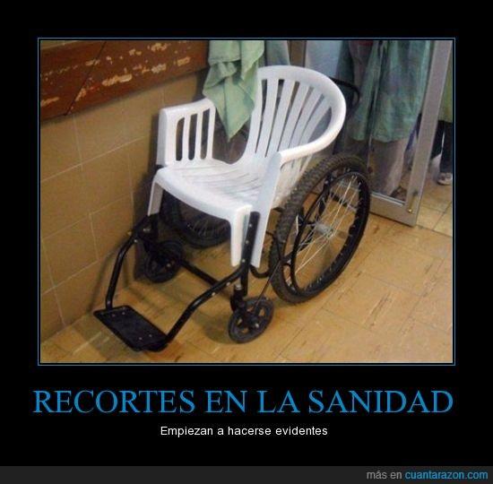 cutre,fail,ingenio,recortes,ruedas,sanidad,silla