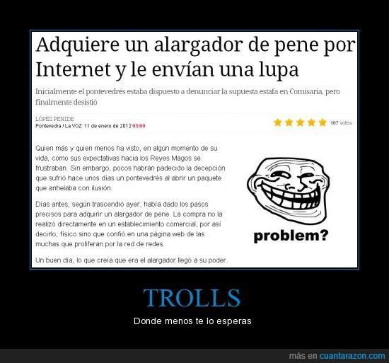 alargador,la voz de galicia,lupa,noticia,problem,troll