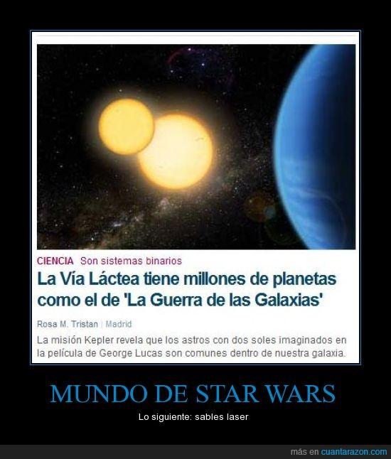 guerra de las galaxias,millones,planetas,vía láctea