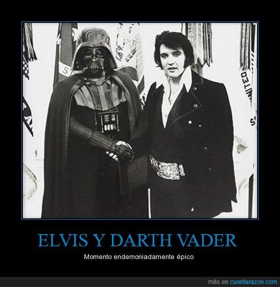 darth vader,Elvis,encuentro epico