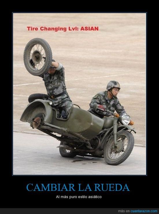 Asia,conducir,en marcha,ruedas
