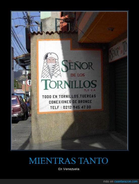 El señor de los anillos,The Lord of the Rings,tornillos,Venezuela
