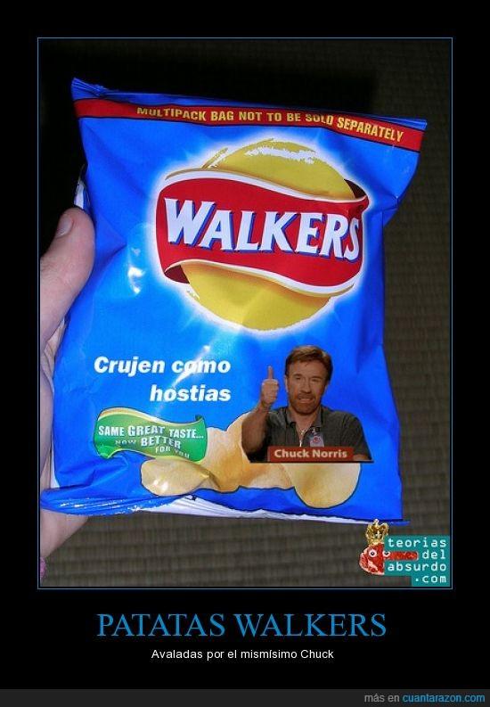 chuck norris,lays,patatas fritas,walkers