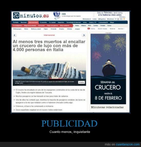 accidente,crucero,italia,noticia,oporuna,publicidad,tragedia