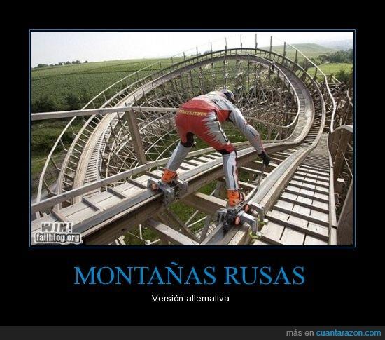 curva,deporte,extremo,montaña,montaña rusa,patines,raíles,rusa