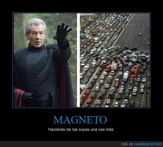 coches,Magneto,Sir Ian McKellen,tráfico,tránsito,xmen