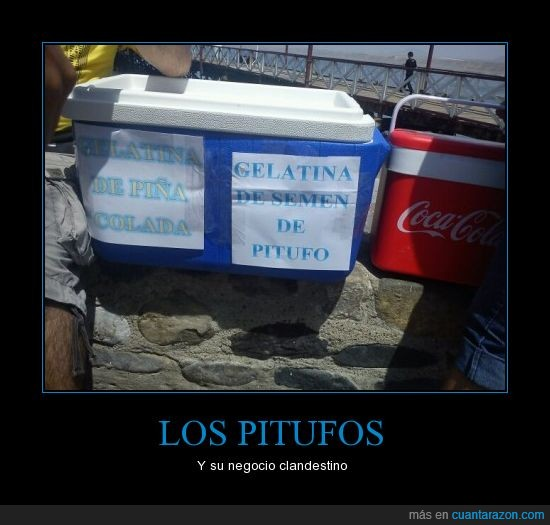 clandestino,gelatina,huanchaco,marketing,pitufos,playa,wtf