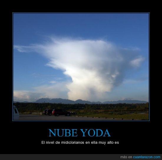 guerra de las galaxias,midiclorianos,nivel,nube,star wars,yoda