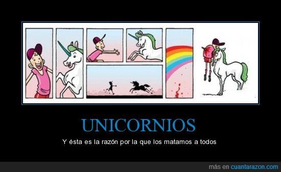 arcoiris,cuerno,ensartar,matar,muerte,porqué,razón,unicornios