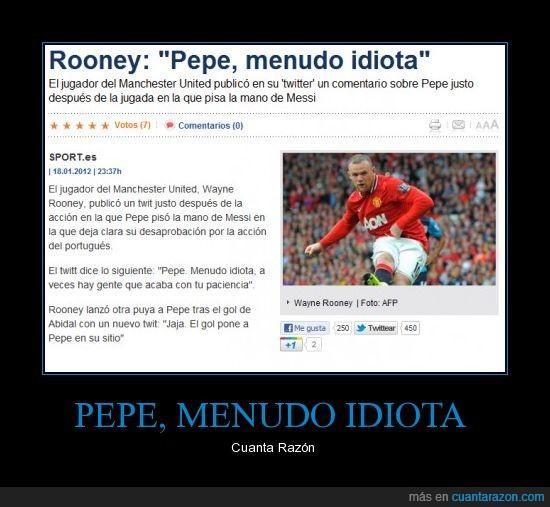 Barça,Clásico,Idiota,Pepe,Ronney