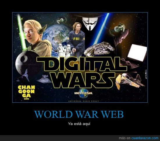 anonymous,fbi star wars,megaupload,war,wikileaks,www