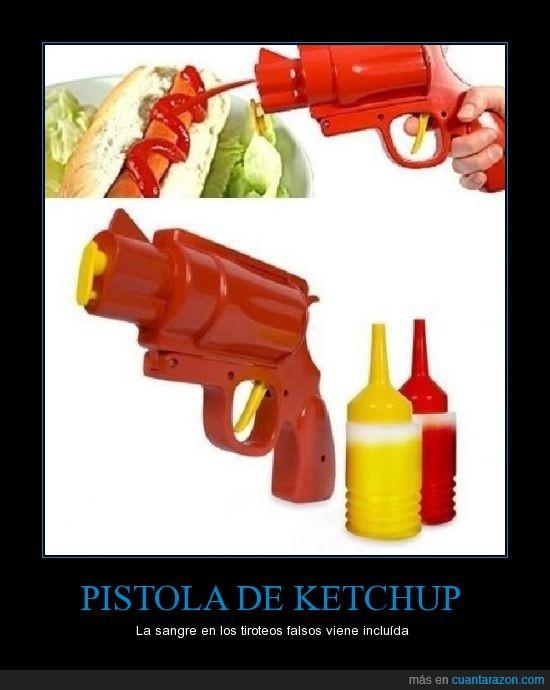 hotdog,inventos,ketchup,matar,pistola,salud