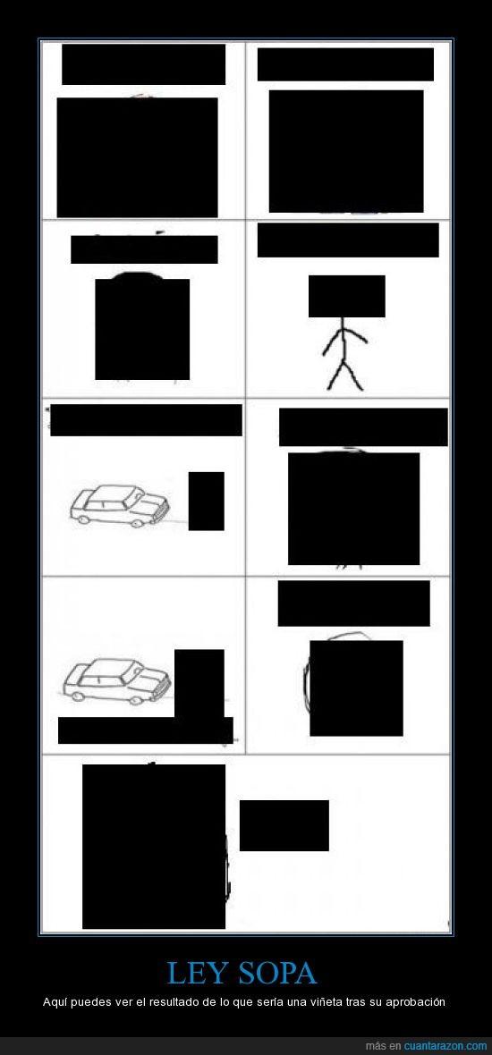 censura,coche,cuadro,ley,negro,sopa,viñetas