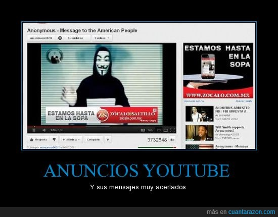 Anonymous,anuncios,fail,sopa,vídeo