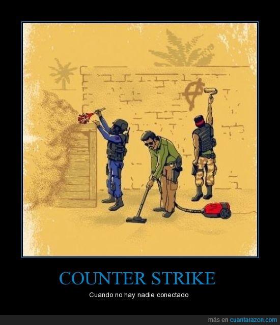 conectado,counter,limpiando,nadie,strike