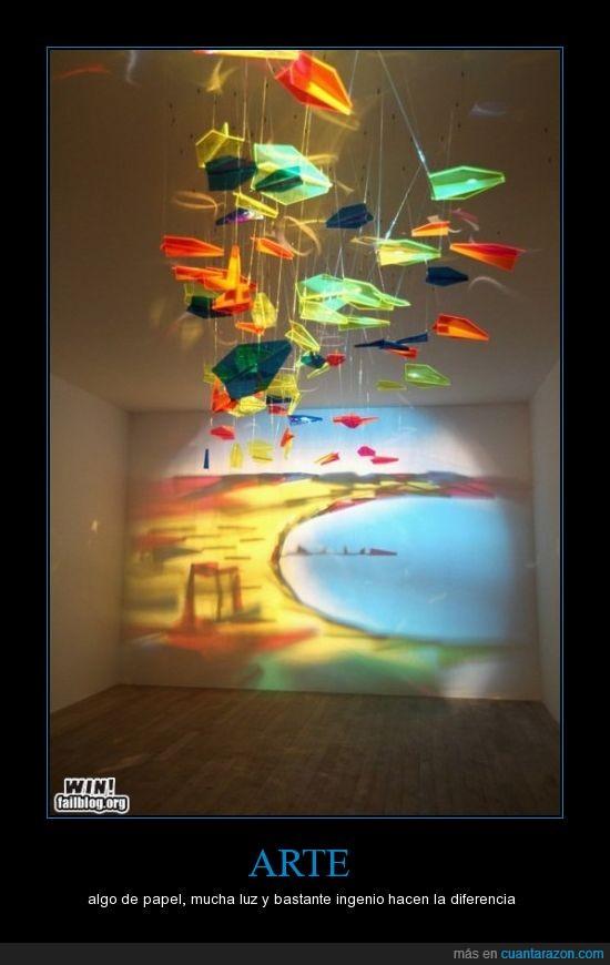 arte,luz,movil,paisaje,papel