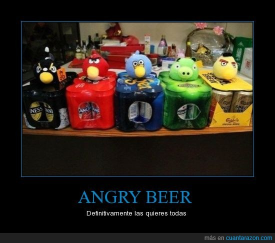 angry beer,angry birds,cerveza,latas