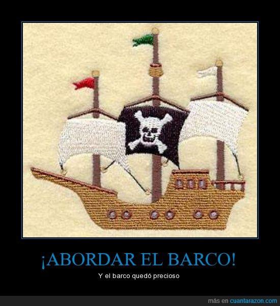 barco,bordado,chiste