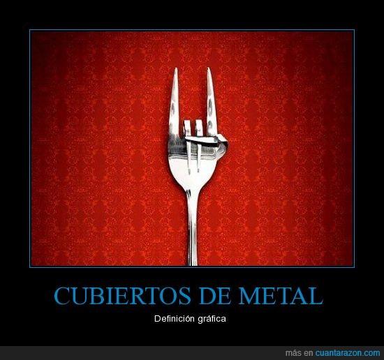 cubiertos,metal,tenedor