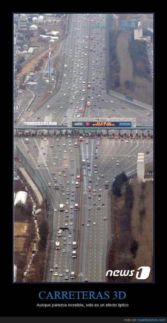3d,carretera,efecto óptico