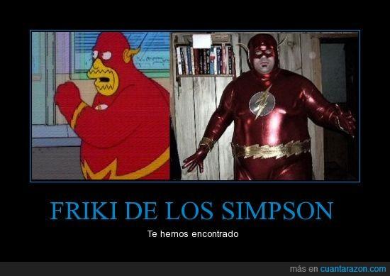 flash,gordo,simpsons,tienda cómics