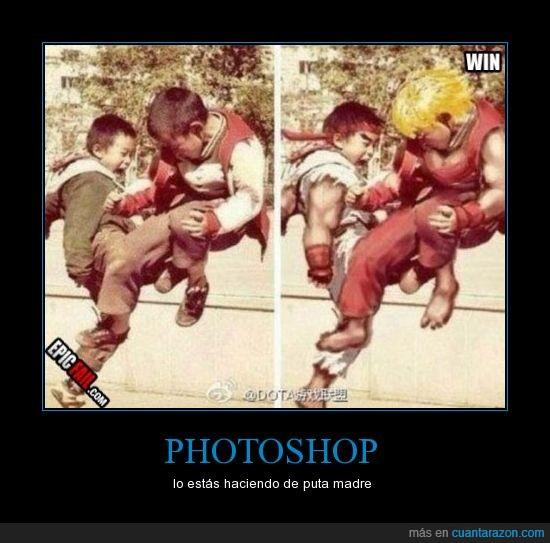 niños,photoshop,street fighter
