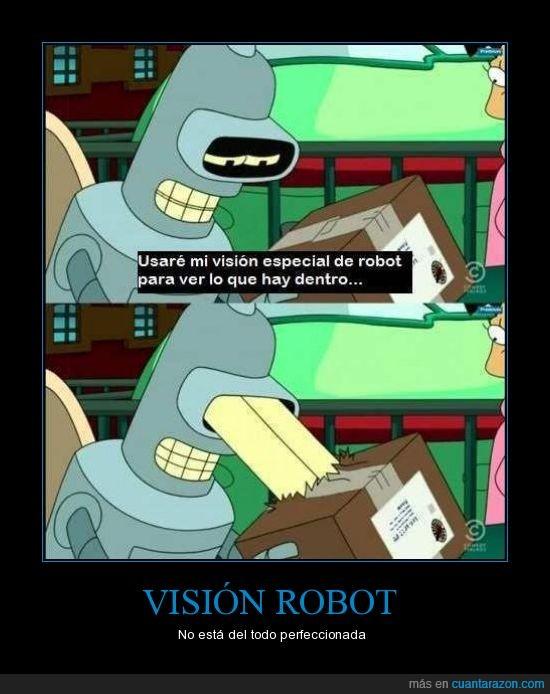 bender,especial,futurama,romper caja,ventajas,visión
