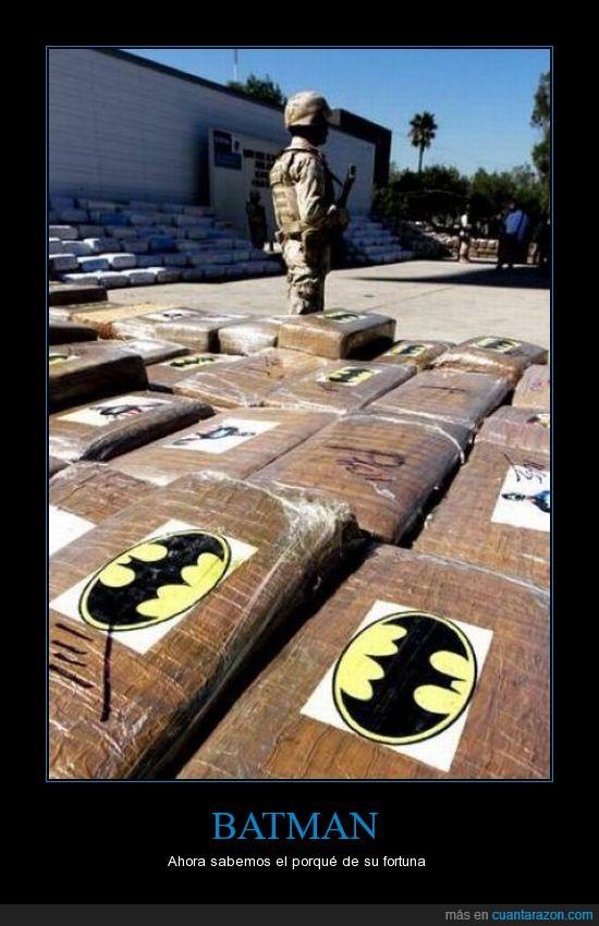 batman,drogas,fortuna,narcotrafico,policia