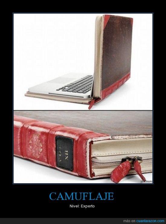 antiguo,camuflaje,funda,libro,mac,portátil,tomo enciclopeda