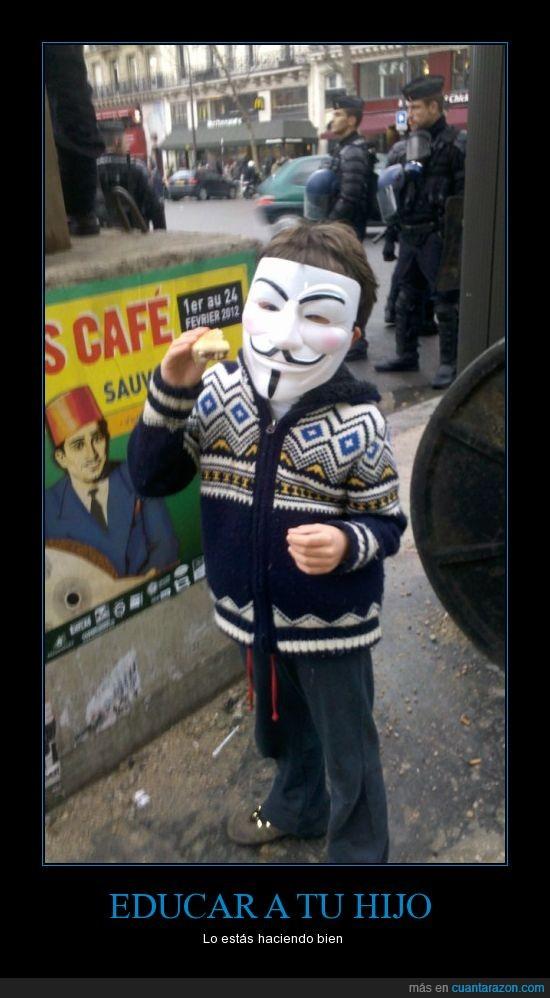 ACTA,anonymous,careta,francia,guy fawkes,Protesta,v de vendetta