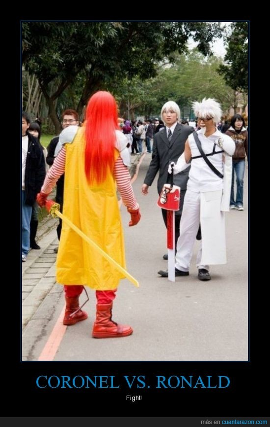 héroe,japón,kentucky fried chicken,kfc,lucha,manga,mcdonald,ronald