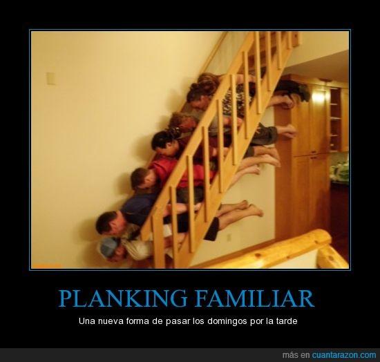 escaleras,Familia,huevo,planking,unidos
