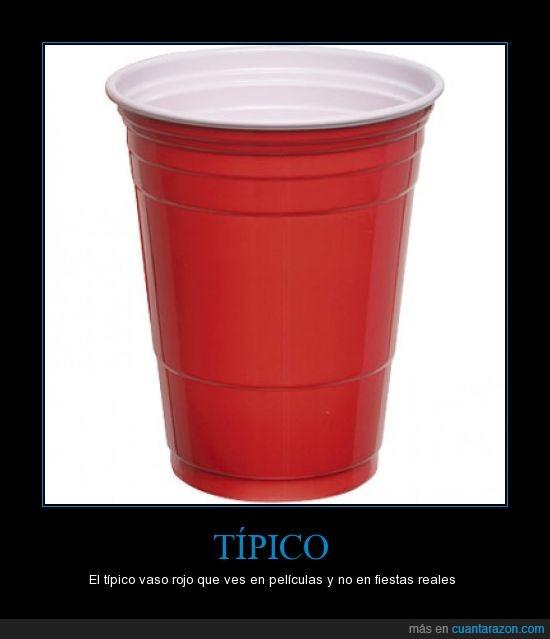 fiesta,pelicula,rojo,vaso