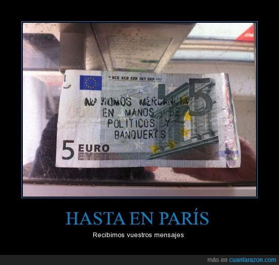 billete,euro,mensaje,paris
