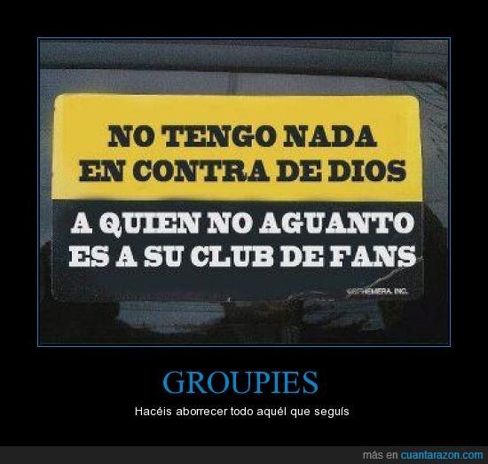 dios,fans,grouppies,religión