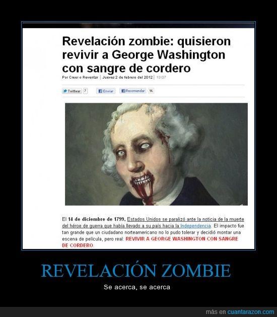 George washington,sangre,zombies