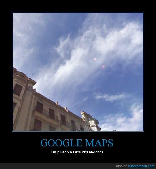 dios,google maps,nube,ojos,vigilar