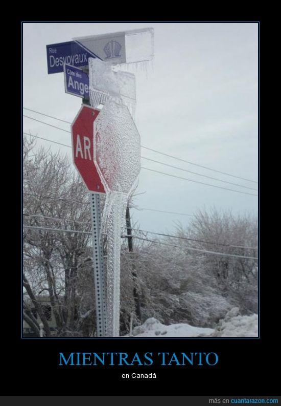 canada,hielo,nieve,señal