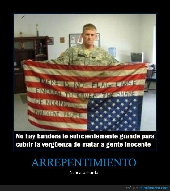 bandera,cuanta razon,EEUU,guerra,muerte,¡Cuánta razón!