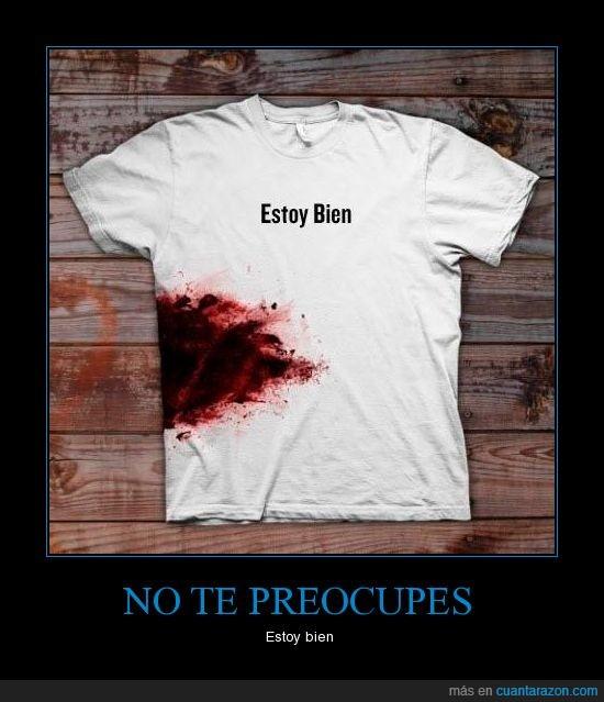 bien,camiseta,herida,preocupar,zombie
