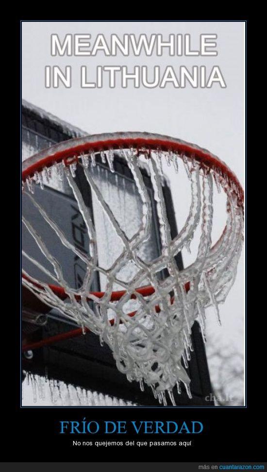 baloncesto,canasta,helado,hielo,Lituania