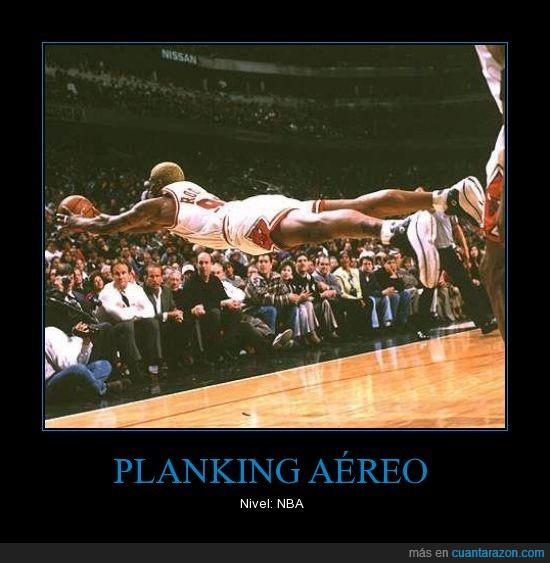 Aire,dennis rodman,NBA,Planking